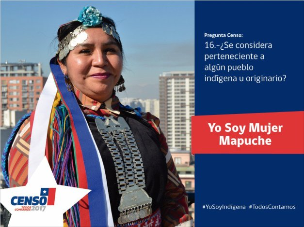 mujer mapuche censo